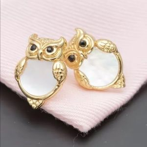 New Kate Spade gold into woods owl earring